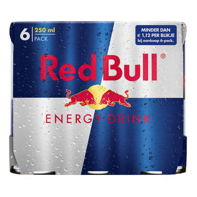 Red Bull Regular 6 pack