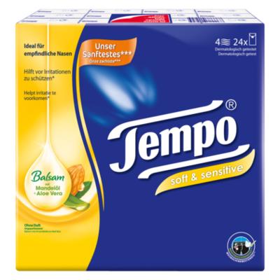 Tempo Soft & sensitive zakdoekjes