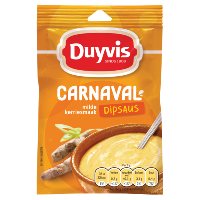 Duyvis Dipsausmix Carnaval Dipsaus Milde Kerriesmaak 6g