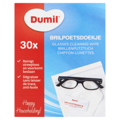 Dumil Vochtige brilpoetsdoekjes