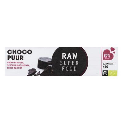 Raw Organic Food Chocolade reep puur raw biologisch