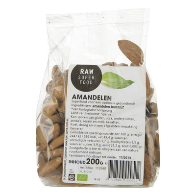 Raw Organic Food Amandelen