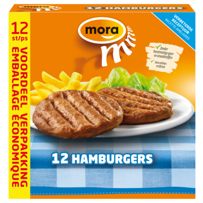 Mora Hamburgers 12 stuks