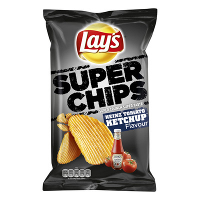 Lay's Superchips Heinz tomato ketchup