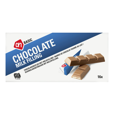 Budget Huismerk Chocolade reepjes met melkvulling