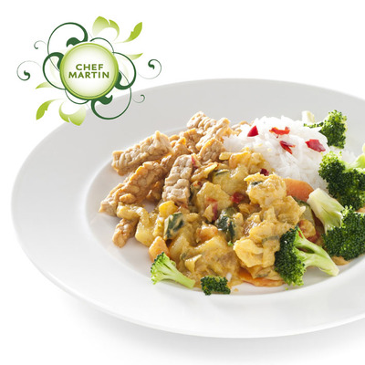 Chef Martin Vegetarische curryschotel broccoli rijst