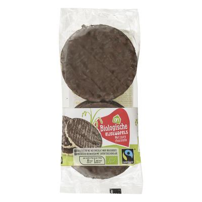 Huismerk Biologisch Rijstwafels met pure chocolade