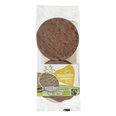 Huismerk Biologisch Maïswafels met melkchocolade