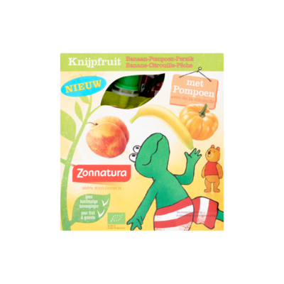 Zonnatura Knijpfruit Banaan-Pompoen-Perzik