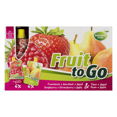 Servero Fruit to go framb-aardbei & appel-peer