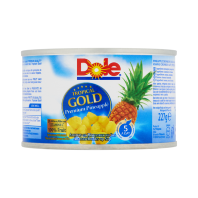 Dole Tropical Gold Ananaschunks op Sap