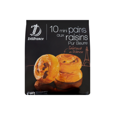 Délifrance Mini Pains aux Raisins Pur Beurre 10 Stuks