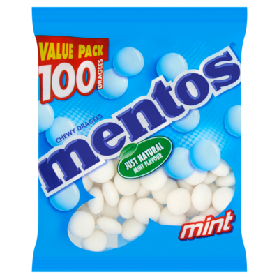 Mentos 100 dragees mint