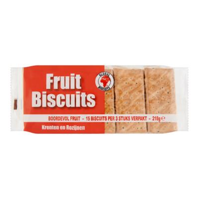 Global Biscuits Fruit Biscuits Krenten en Rozijnen