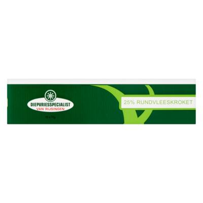 Diepvriesspecialist van Rijsingen 25% Rundvleeskroket