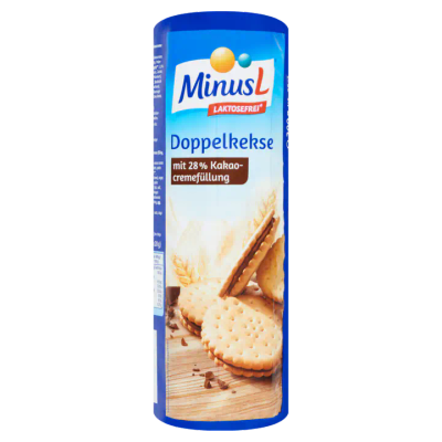 MinusL Lactosevrije Doppelkekse Biscuits