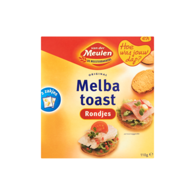 Van Der Meulen Original Melba Toast Rondjes 2 Zakjes