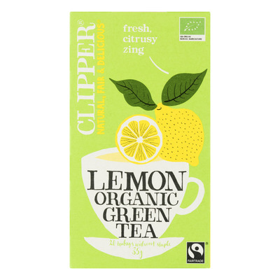 Clipper Organic green tea lemon 1-kops