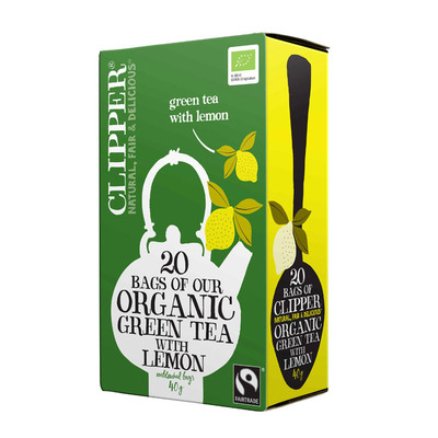 Clipper Organic green tea lemon 1-kops