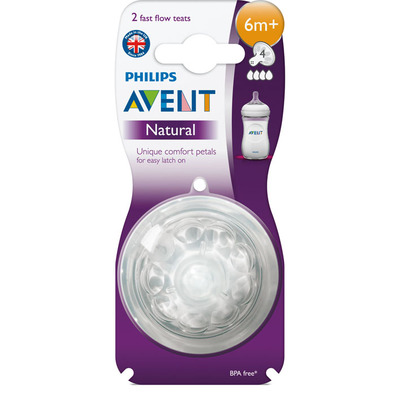 Avent Natural spenen 4 gaats 6m+