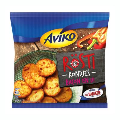 Aviko Rösti rondjes bacon en ui