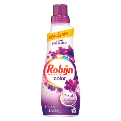 Robijn Klein & Krachtig Wasmiddel Purple Sensation Color 21 Wasbeurten