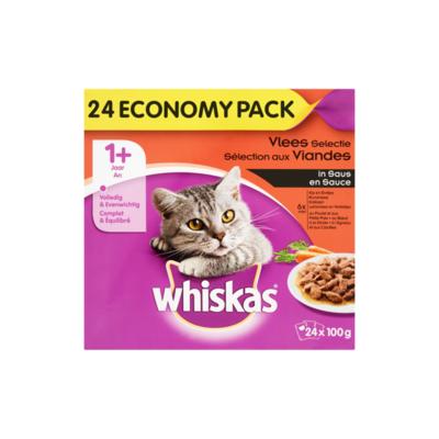 Whiskas Vlees Selectie in Saus 1+ Jaar Economy Pack