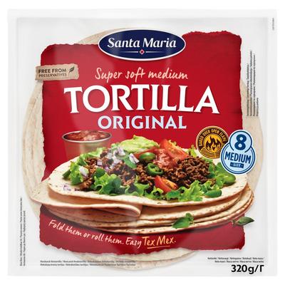 Santa Maria Super Soft Medium Tortilla Original 8 Stuks 320 g