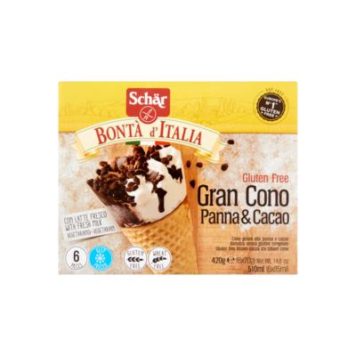 Schär Bontà d´ Italia Gluten Free Gran Cono Panna & Cacao