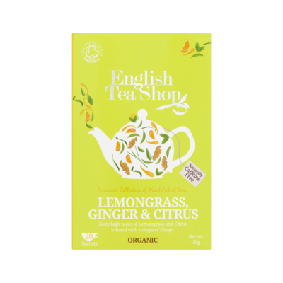 English Tea Shop Lemongrass Ginger en Citrus 20 Stuks