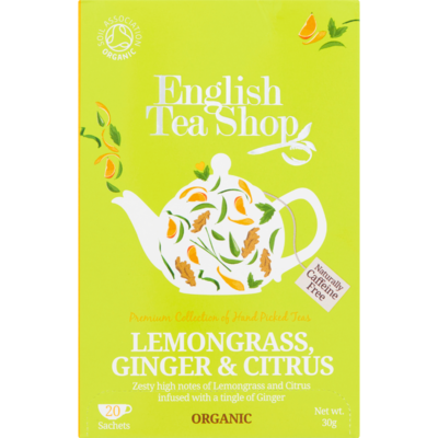English Tea Shop Tea organic biologisch lemongrass - ginger- citroen 20 zakjes