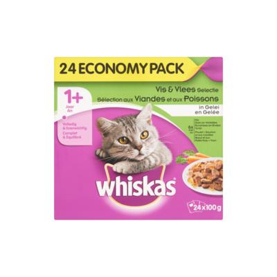 Whiskas Mix Selectie in Gelei 1+ Jaar Economy Pack