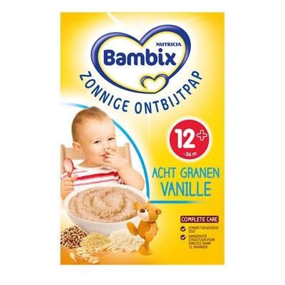 Bambix Zonnige ontbijtpap 8 granen vanil. 12m+