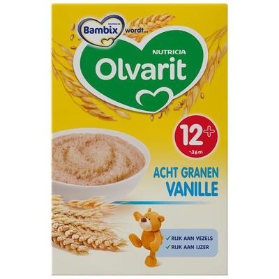 Olvarit Zonnige ontbijtpap 8 granen vanil. 12m+