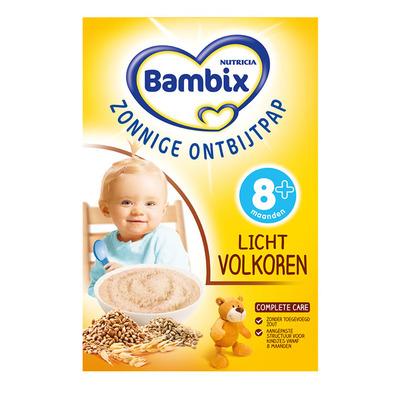 Bambix Zonnige ontbijtpap licht volkoren 8 mnd