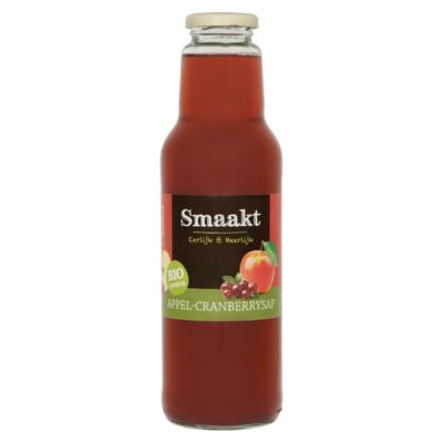 Smaakt Biologisch Appel-Cranberrysap