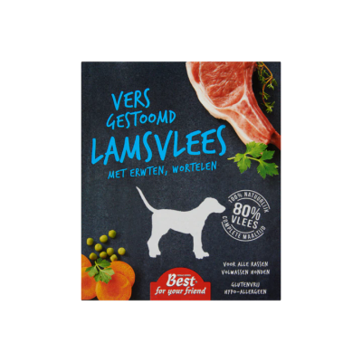 Best For Your Friend Vers Gestoomd Lamsvlees met Erwten Wortelen