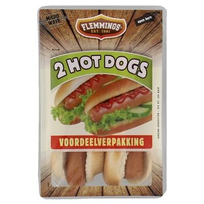 Flemmings Kant En Klaar Maaltijd Hotdog Duopack