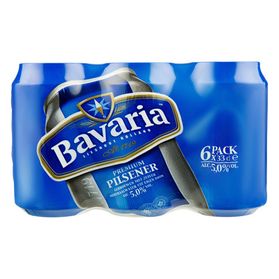 Bavaria Premium pilsener 5.0% Sixpack blik bier