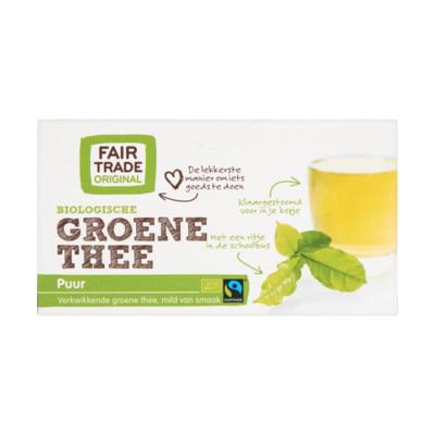 Fair Trade Original Groene Thee Biologisch 20 Zakjes x