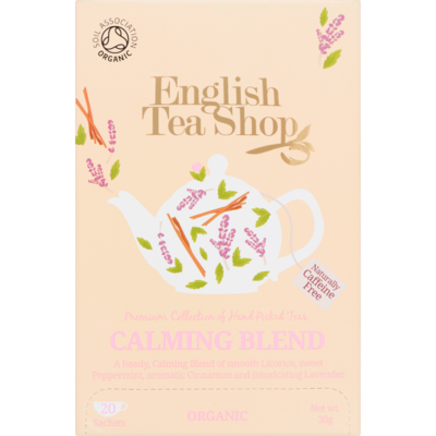 English Tea Shop Tea organic biologisch calming blend 20 zakjes