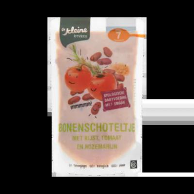 De Kleine Keuken Biologisch Vers Bonenschoteltje Tomaat, Rijst, Zachte Kruiden Vanaf 7 Maanden