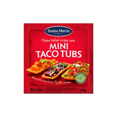 Santa Maria Tex Mex Mini Taco Tubs 14 Stuks