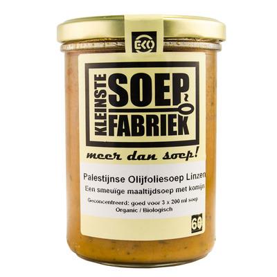 Kleinste Soepfabriek Linzensoep met olijfolie