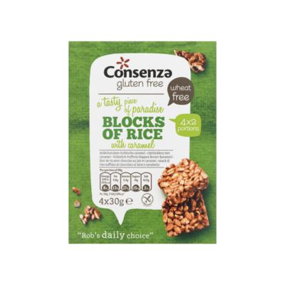 Consenza Glutenvrije Rijstblokken met Caramel