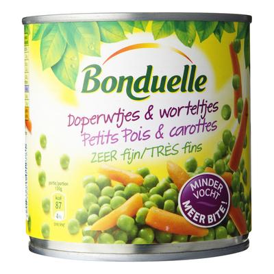 Bonduelle Doperwtjes & worteltjes zeer fijn