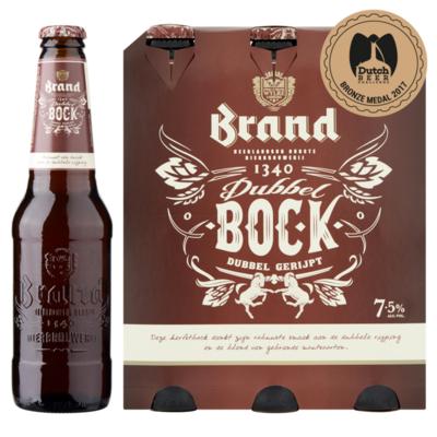 Brand Dubbelbock Bier Fles