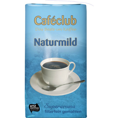 Caféclub Kaffee filterfein gemahlen naturmild