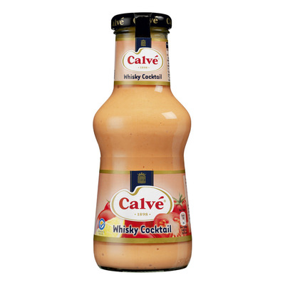 Calvé Saus fles whisky cocktail