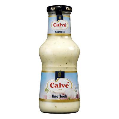 Calvé Saus Fles Pittige Knoflook